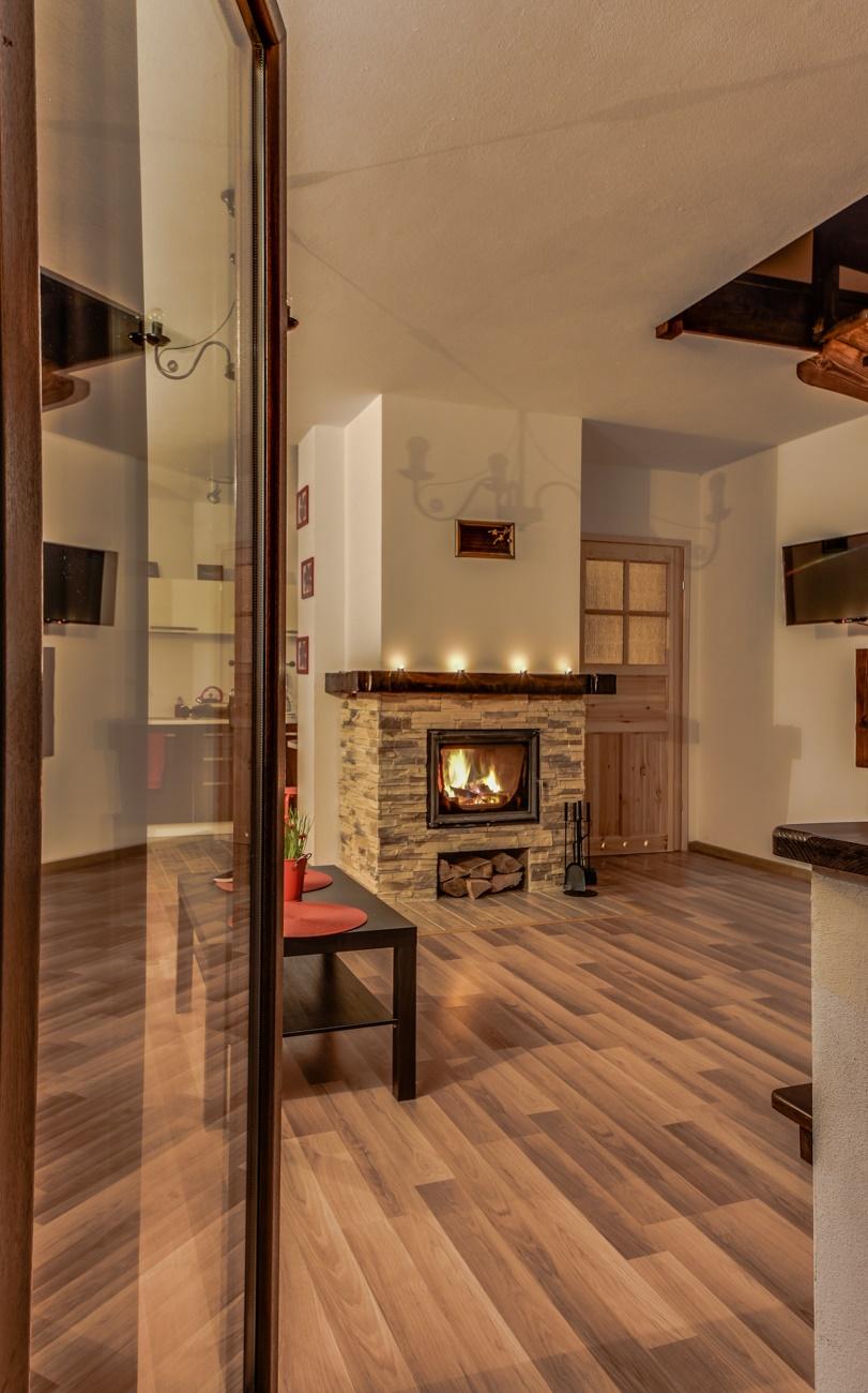apartamenty z kominkiem Bieszczady Solina