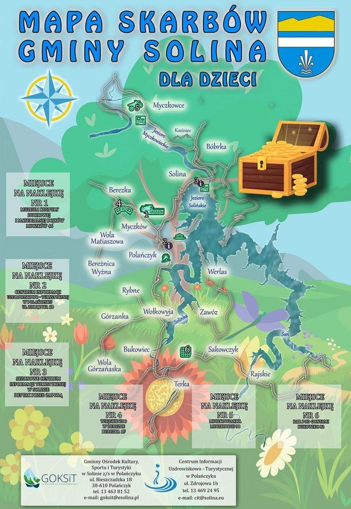 mapa skarbów Solina Bieszczady